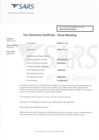 Tax clearance form example tcc online dryk financial services tax clearance form example yadclub